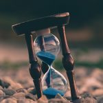 hourglass on the ground