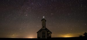 country church under the stars