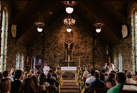 church congregation at worship