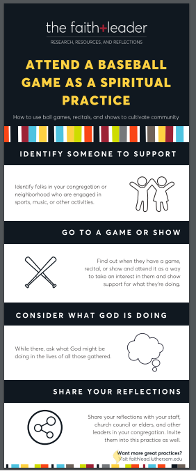 Attend a baseball game as a spiritual practice