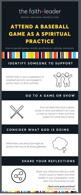 Attend a baseball game as a spiritual practice