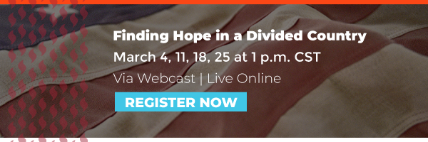 "Sign up for Angela Denker's course ""Finding Hope in a Divided Country"""