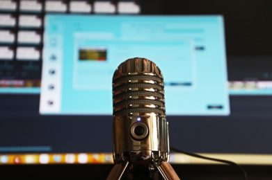 microphone and computer