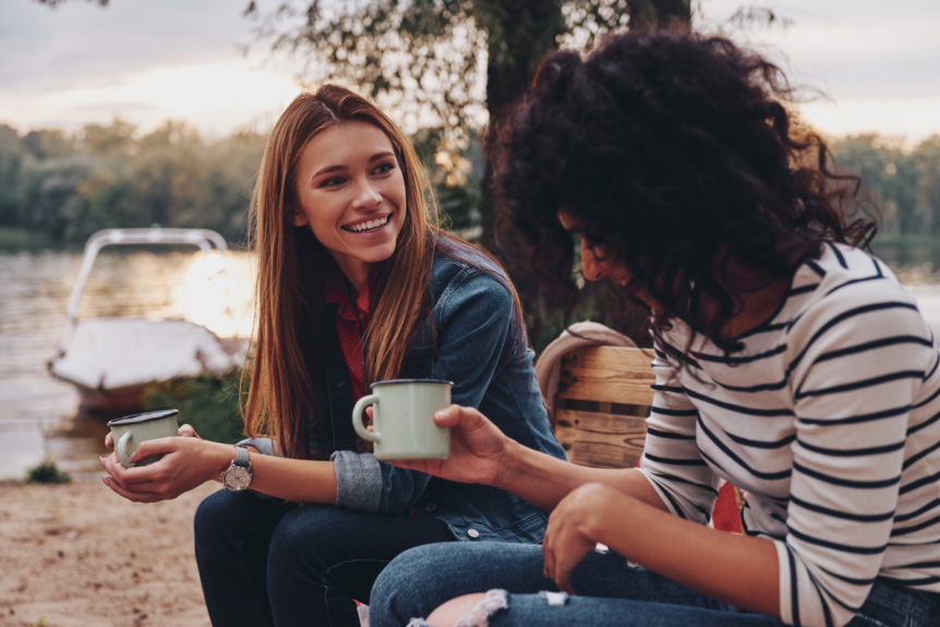outdoors conversation