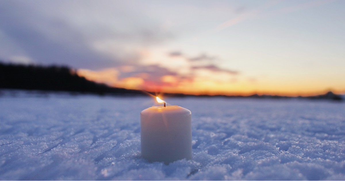 candle snow