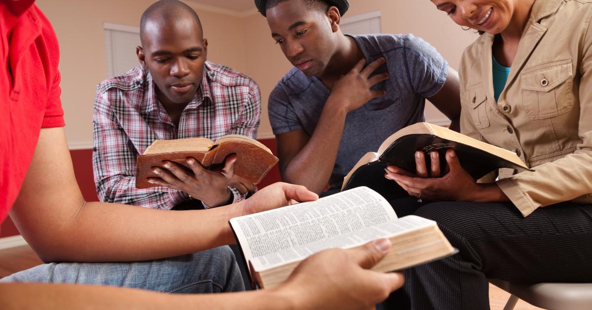 Group Bible study.