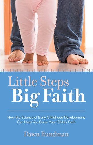 Book cover that says Little Steps Big Faith